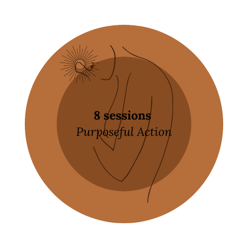 8 sessions Purposeful action